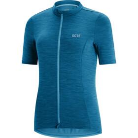 GORE WEAR C3 Koszulka rowerowa z zamkiem błyskawicznym Kobiety, niebieski